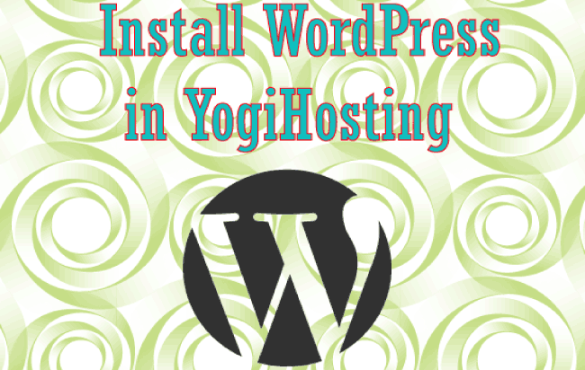 install wordpress in yogihosting