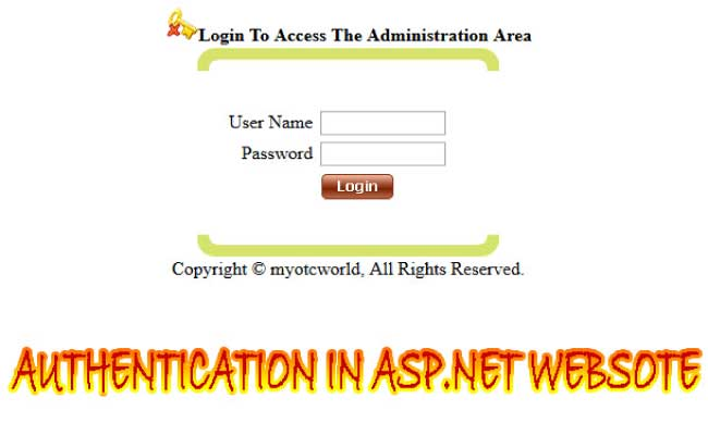 Authentication in ASP.NET