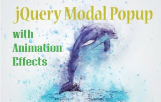jQuery Modal PopUp Window with Animation Effects – with Codes