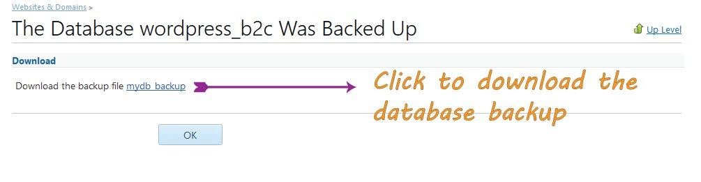 Downloading Database Backup File