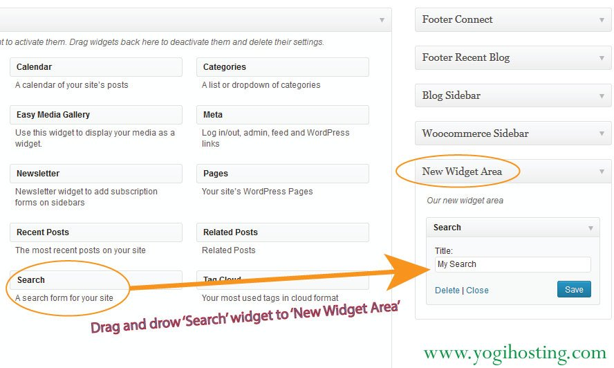 Adding Widgets To Sidebar