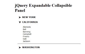 Creating Expandable & Collapsible Panels in jQuery