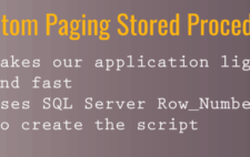 Custom Paging with SQL Server 2012