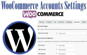 woocommerce accounts settings