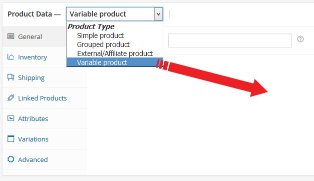 adding variable product