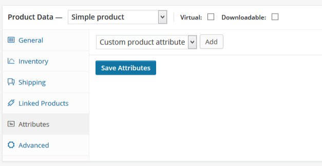 custom product attribute