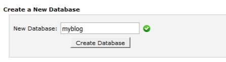 Creating WordPress Database