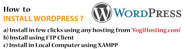 How to Install WordPress in your hosting and local PC?
