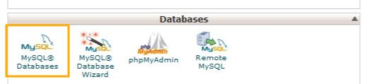 MySQL Databases icon in Hosting
