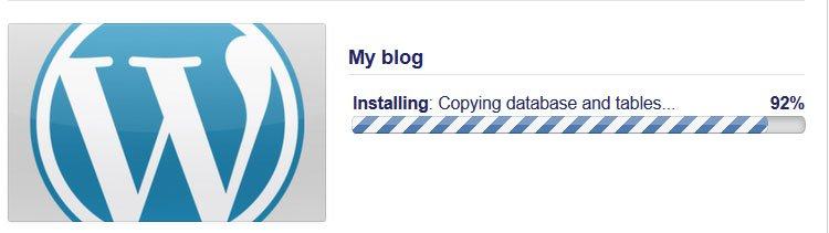 WordPress Installation Progress bar