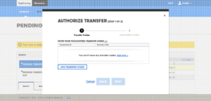 authorize transfer window