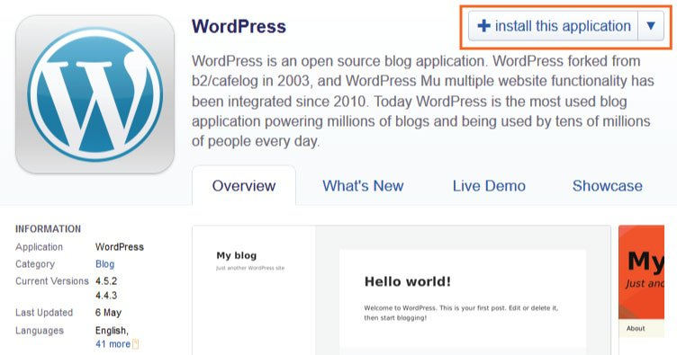 installing wordpress in yogihosting