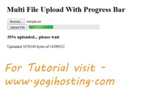 multi file upload with progress bar