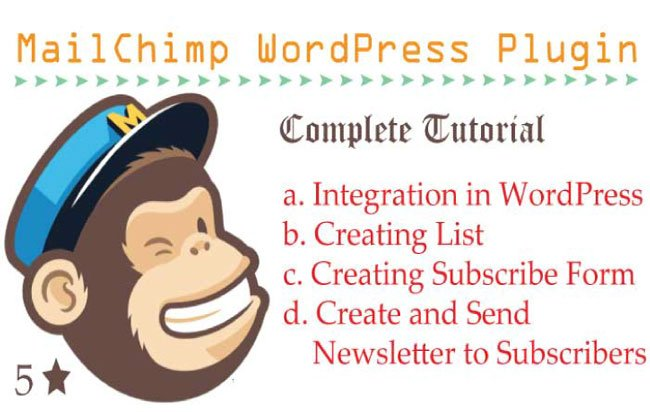 How to Use MailChimp WordPress Plugin to create Subscribe Form and send Emails?