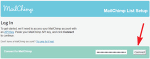 adding API key to mailchimp wordpress plugin