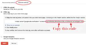 google webmaster verification in all in one seo pack