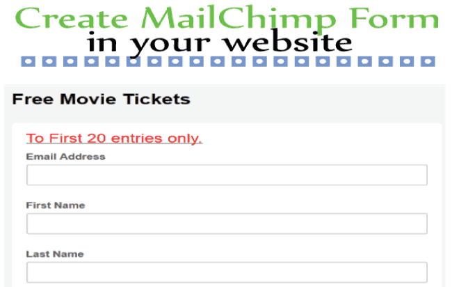 How to create a MailChimp Form in your website?