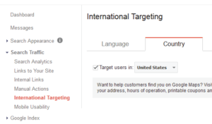 international targeting setting