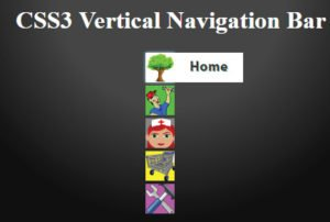 css3 vertical navigation bar