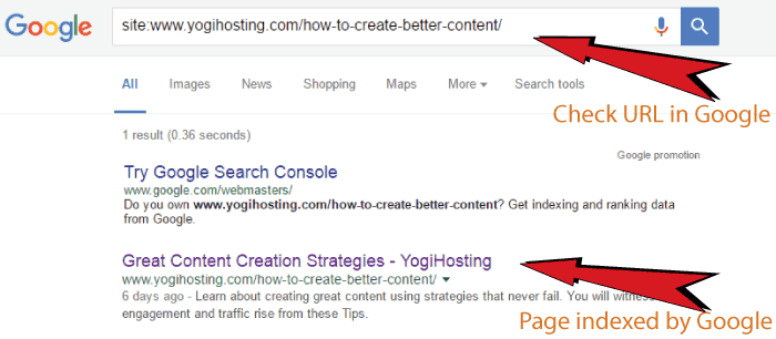 how to find out if a page is indexed by google