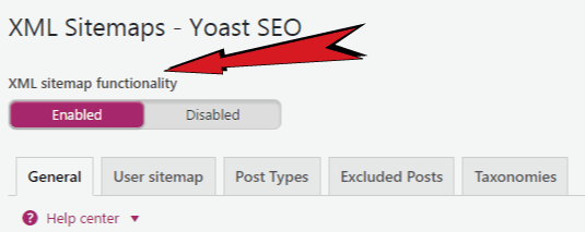 sitemap settings in yoast seo