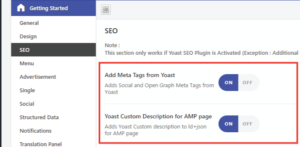AMP For WP SEO Settings