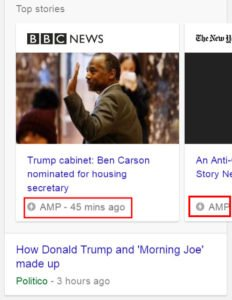 amp pages ranking higher in google serp