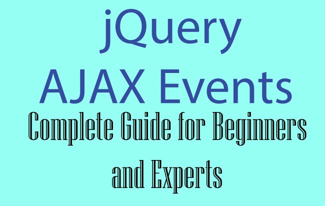 jQuery AJAX Events