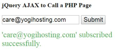 jQuery ajax call php page