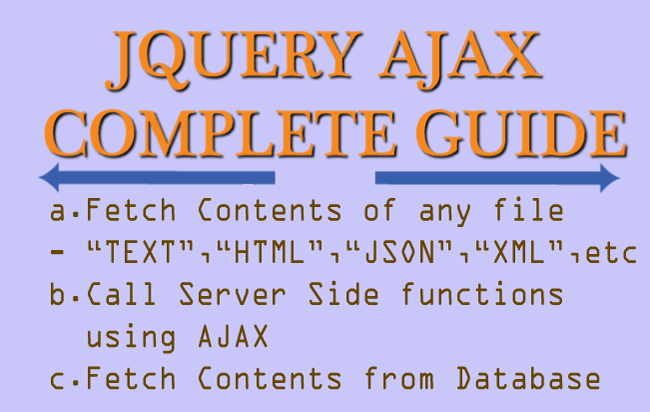 jQuery AJAX Complete Guide for Beginners and Experts