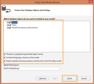 Choose Your Database Objects and Settings