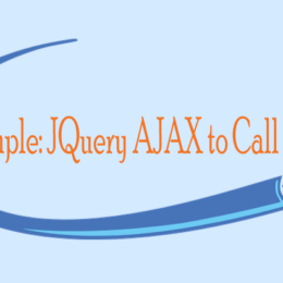 Example JQuery AJAX to Call an API