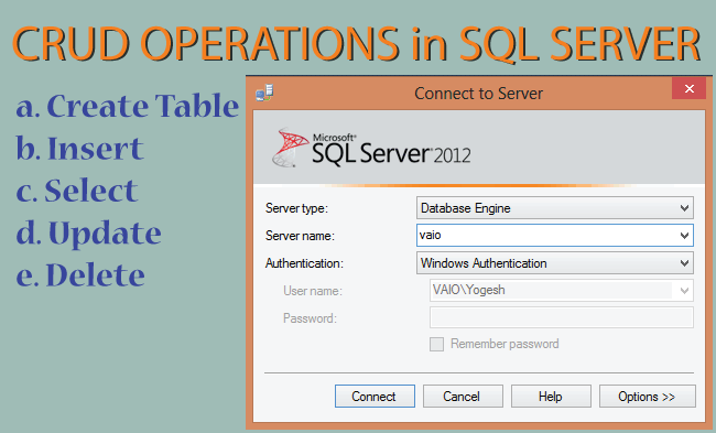 How to Perform CRUD Operations in SQL Server