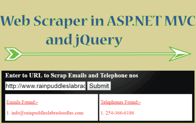 How to Create a Web Scraper in ASP NET MVC and jQuery