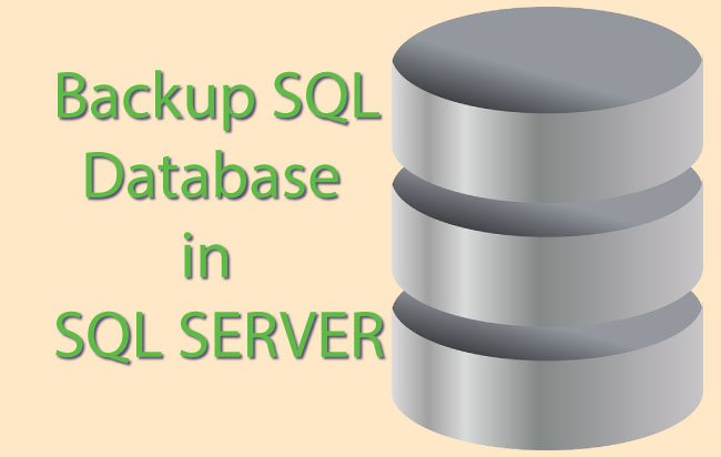 How to Backup SQL Database using SSMS