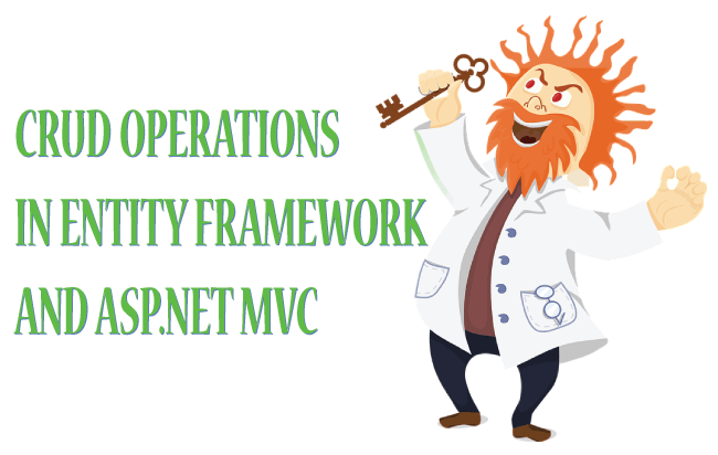 crud operations in entity framework and asp net mvc