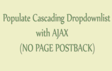 How to Populate Cascading Dropdownlist with AJAX in ASP.NET