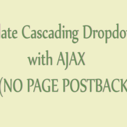 populate cascading dropdownlist