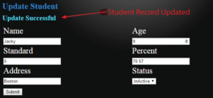 student record updated