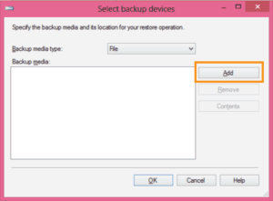 select backup devices