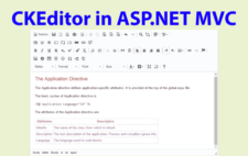 How to use CKEditor in ASP.NET MVC – Developers Guide with Sample Codes to Download