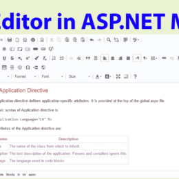 ckeditor tutorial asp net mvc