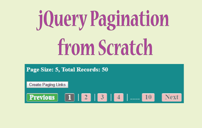 How to Create jQuery Pagination System in your Web Page