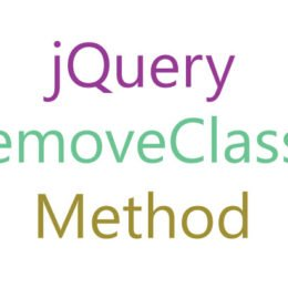 jquery removeclass