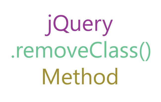 Tutorial: jQuery removeClass() Method