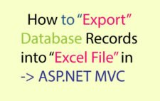 How to Export Database Records into Excel File in ASP.NET MVC
