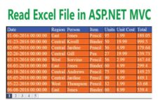 How to Read Excel in ASP.NET MVC and show it in Grid with Paging