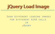 How to Show different loading images for different AJAX calls in jQuery