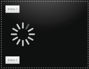 loading image for first button click