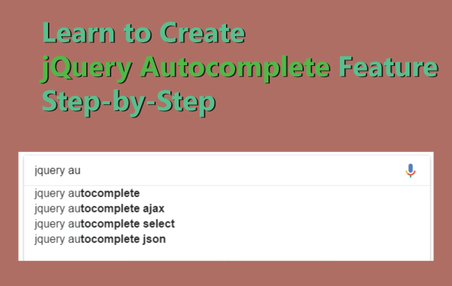 How to create jQuery Autocomplete Feature in Step by Step manner